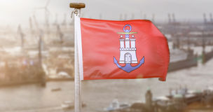 A hamburg city flag germany sun composing Stock Photography