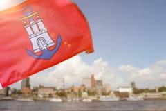 A hamburg city flag germany sun composing Royalty Free Stock Image