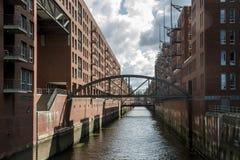Hamburg City Germany Speicherstadt Warehouse district Royalty Free Stock Photography