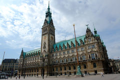 Hamburg city hall Royalty Free Stock Image