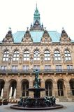 Hamburg city hall building Royalty Free Stock Photo