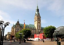 Hamburg city hall Royalty Free Stock Photo