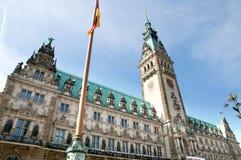 Hamburg city hall Stock Photos