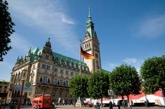 Hamburg city hall Stock Images