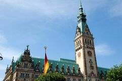 Hamburg city hall Royalty Free Stock Photos