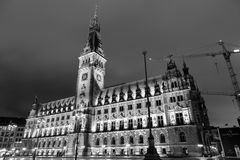 Hamburg City Hall in monochrome Royalty Free Stock Images