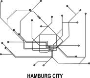 Hamburg City map. Hamburg subway map available in vector file format Royalty Free Stock Photo