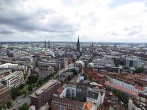 Hamburg. Panorama of the city. Hamburg city, panorama of the city stock images