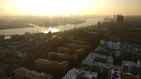 Hamburg city stock image
