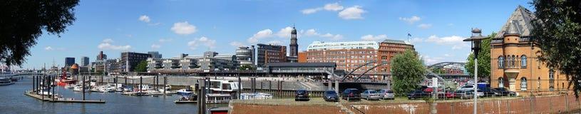 Hamburg City Sporthafen and Elbpromenade Royalty Free Stock Photo