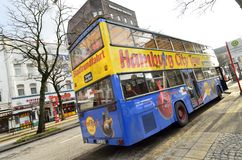 Hamburg city tour bus Royalty Free Stock Image