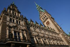 Hamburg City, Town Hall Royalty Free Stock Photography