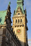 Hamburg city town hall Stock Image