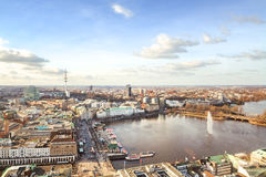 Hamburg cityscape royalty free stock image