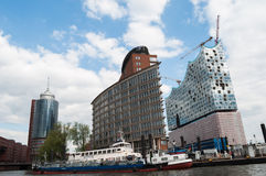 Hamburg Cityscape. Photo taken from a boat Stock Images
