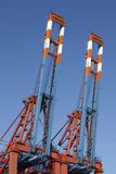 Hamburg - Container gantry cranes at terminal Royalty Free Stock Image
