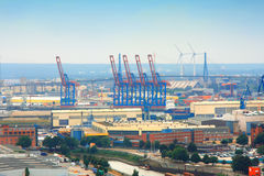 Hamburg - Container Giant in the Port of Hamburg Royalty Free Stock Photo