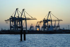 Hamburg Container Terminal Royalty Free Stock Photography