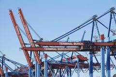 Hamburg - Container terminal Burchardkai Stock Image