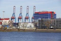 Hamburg - Container terminal Tollerort Stock Images