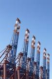 Hamburg - Containerterminal Royalty-vrije Stock Foto