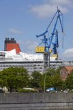 Hamburg - Cruise ship in a drydock Royalty Free Stock Image