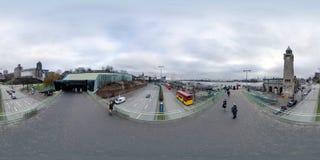 Hamburg de straatmening van het 360 graadpanorama Stock Foto