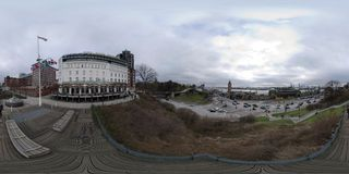 Hamburg de straatmening van het 360 graadpanorama Royalty-vrije Stock Afbeeldingen