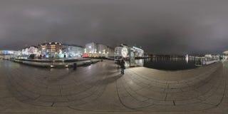 Hamburg de straatmening van het 360 graadpanorama Royalty-vrije Stock Foto's
