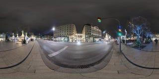 Hamburg de straatmening van het 360 graadpanorama Royalty-vrije Stock Foto