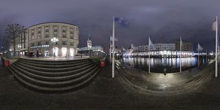 Hamburg 360 degree panorama street view Royalty Free Stock Photo