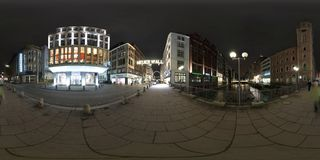 Hamburg 360 degree panorama street view Stock Images