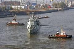Hamburg, Deutschland - Aktion im Hafen Stockfoto
