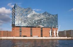 Hamburg, Deutschland Ansicht von Elbphilarmonie lizenzfreie stockfotografie
