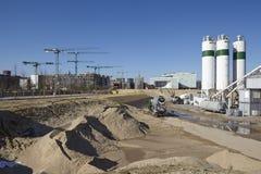 Hamburg (Deutschland) - Baustelle des Hafencity Lizenzfreies Stockbild