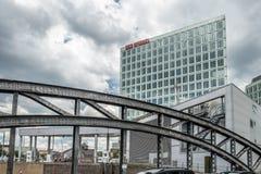 Hamburg, Deutschland - 14. Juli 2017: Der Spiegel-Zeitschriftbüro in Hamburg befindet sich nah an dem berühmten Speicherstadt Stockbild