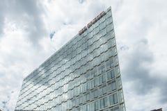 Hamburg, Deutschland - 14. Juli 2017: Der Spiegel-Zeitschriftbüro in Hamburg befindet sich nah an dem berühmten Speicherstadt Lizenzfreie Stockfotos