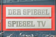 Hamburg, Deutschland - 14. Juli 2017: Der Spiegel-Zeitschriftbüro in Hamburg befindet sich nah an dem berühmten Speicherstadt Stockbilder