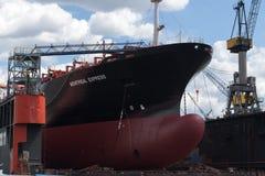 Hamburg, Deutschland - 11. Juni 2016: der Knollenbogen des Enthaltung Lizenzfreie Stockfotos