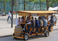 Beerbike in Hamburg Stockfotos