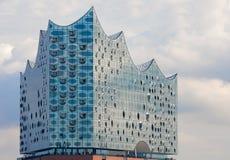 Hamburg, Deutschland Oberes Glasteil Gebäude von Elbphilharmonie Elbe philharmonisch lizenzfreies stockfoto