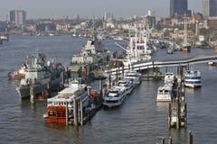 Hamburg, Deutschland - Wiev von neuem Elbphilharmonie zum Teil von Lizenzfreies Stockfoto