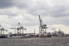 Hamburg dock Stock Images