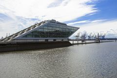 Hamburg Dockland Hafen Panorama Stock Photography