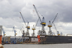 Hamburg docks Royalty Free Stock Image