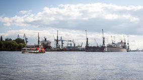 Hamburg Docks, Germany Royalty Free Stock Image