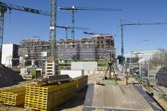 Hamburg (Duitsland) - bouwterrein van Hafencity Stock Afbeeldingen