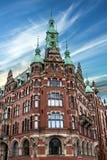Hamburg, Duitsland De oude pakhuisbouw Royalty-vrije Stock Afbeelding