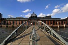Hamburg, Duitsland, de oude zaal van de vissenveiling Royalty-vrije Stock Afbeeldingen