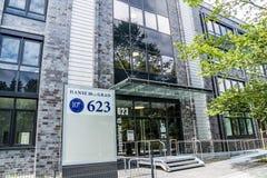 Hamburg, Duitsland - Juli 15, 2017: Hanse 10ter Grad heeft meer dan 16500 vierkante meters te laten Royalty-vrije Stock Fotografie